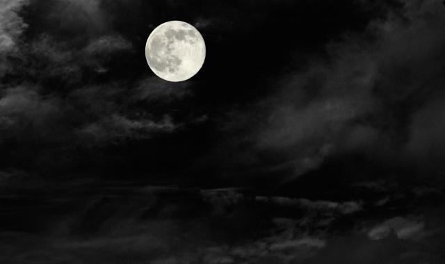 月夜の暗闇
