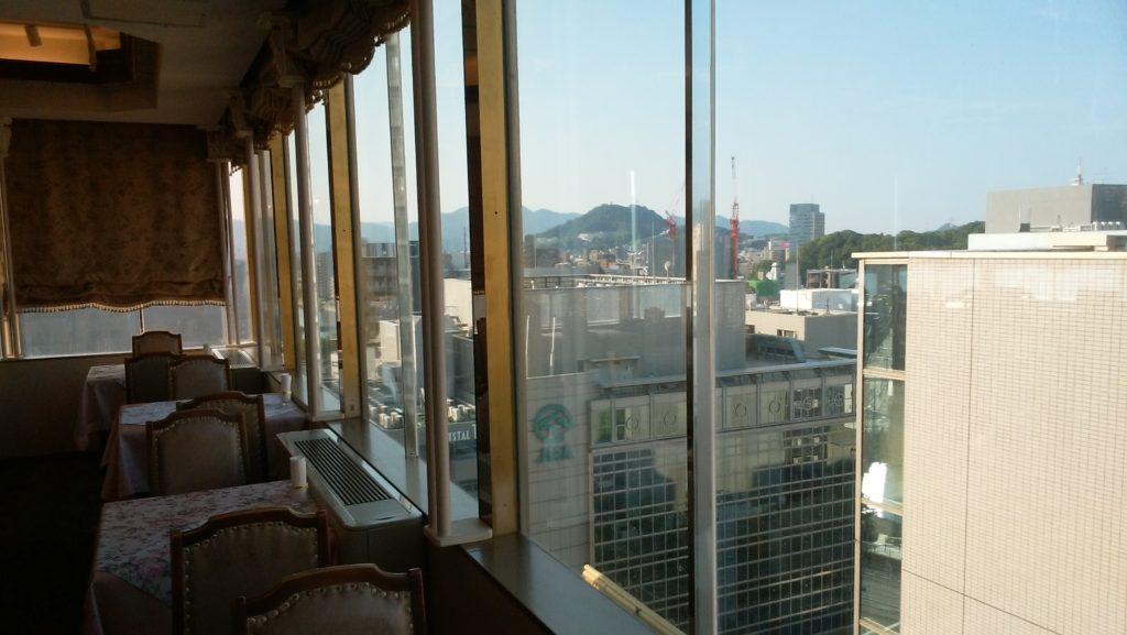 広島グランドインテリジェントホテルレストランからの景色